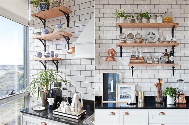 Cocinas con azulejos tipo metro para una atm sfera vintage - Azulejos vintage cocina ...
