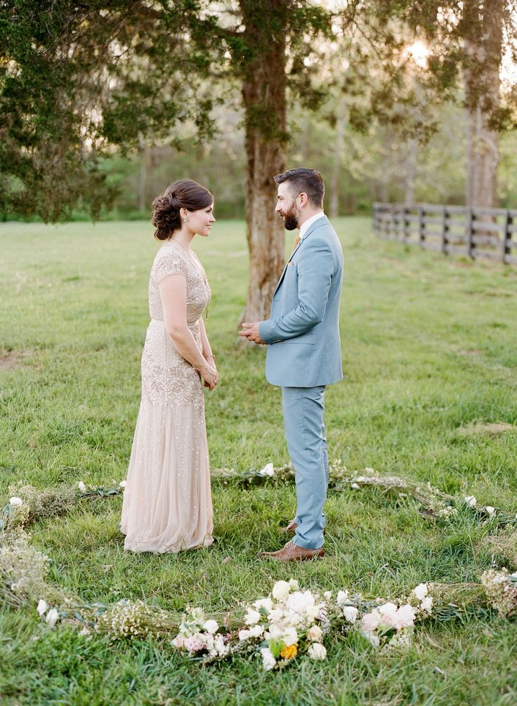 Photography : Brandon Chesbro | Wedding Dress : Adrianna Papell Read More on SMP: http://www.stylemepretty.com/2016/06/25/marriage-matters-the-sweetest-10-year-vow-renewal-2/