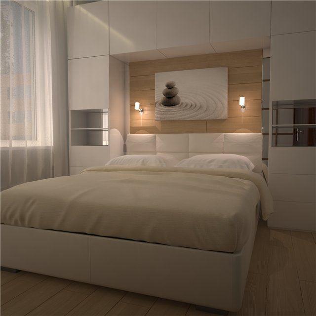 спальня с изголовьем полками - Поиск в Google