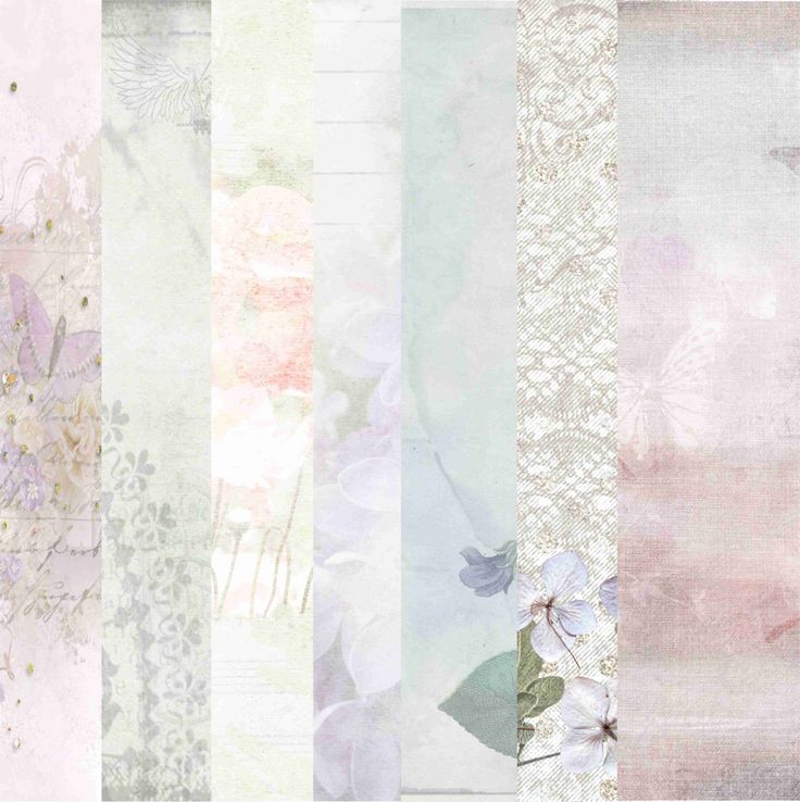 Spring Pastels Papers by MegsGardenPapercraft on Etsy