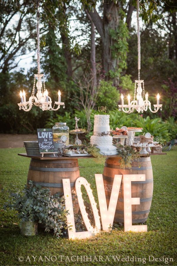 Cute idea for garden ceremony