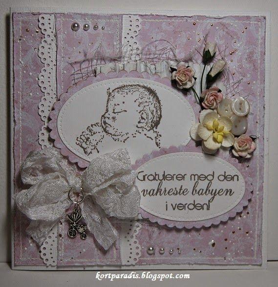 Baby Babycard Babykort Hommede Scrapping NorthStarStamps NorthStarDesign