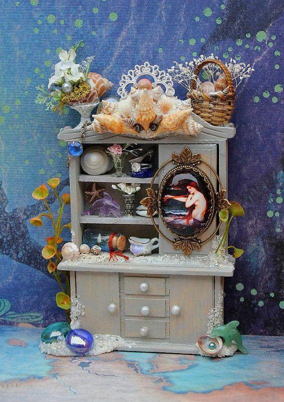 Dollhouse Miniature Mermaid Cove Seashell by 19thDayMiniatures