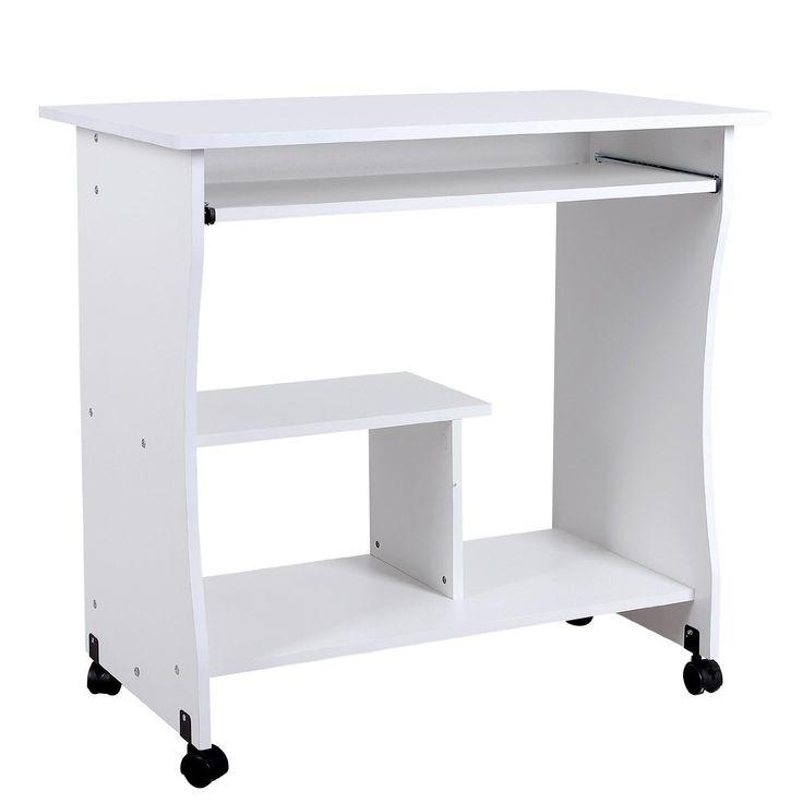 mari home knighton blanco escritorio de la computadora mesa de ordenador armarios puertas. Black Bedroom Furniture Sets. Home Design Ideas