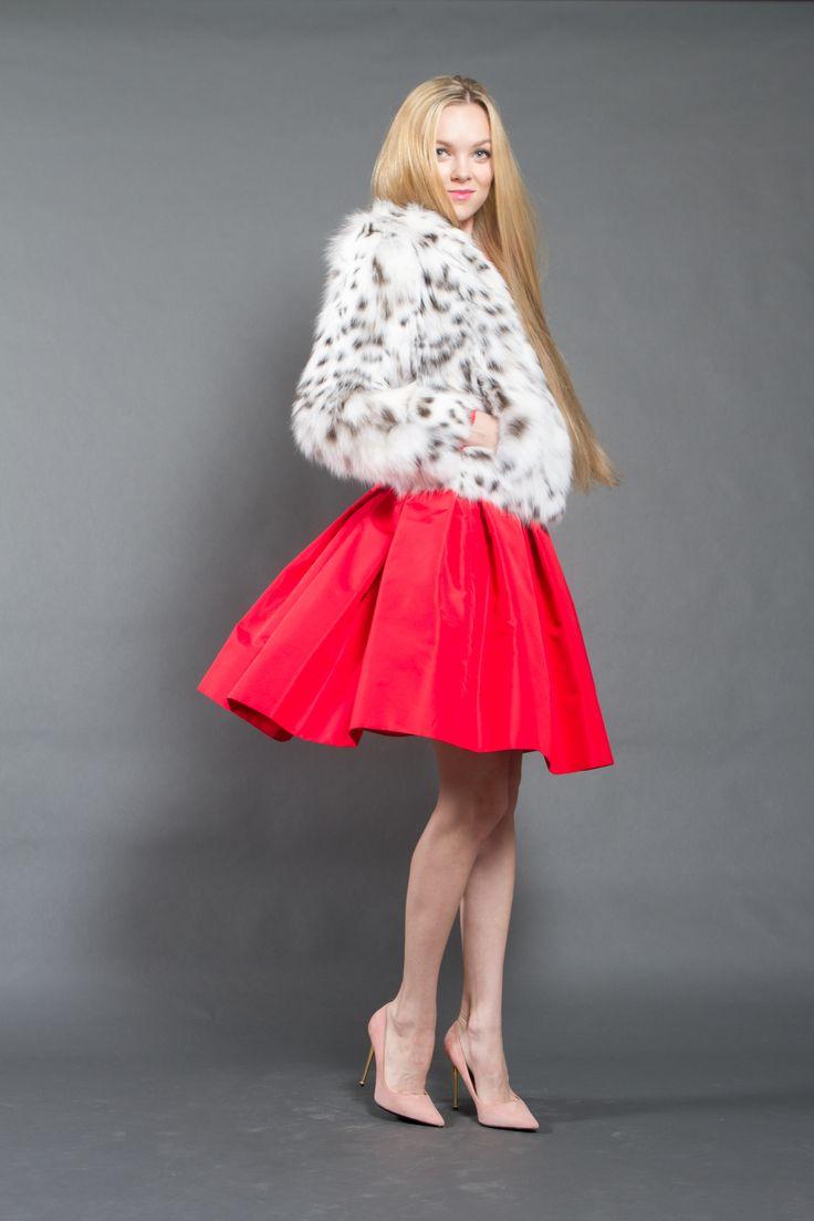 White lynx jacket