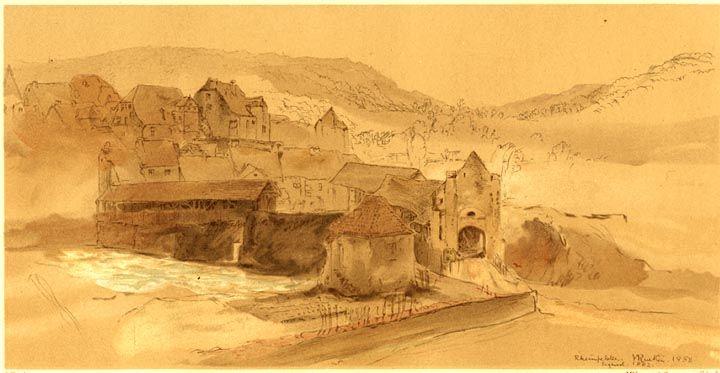 Rheinfelden. 1858 by John Ruskin