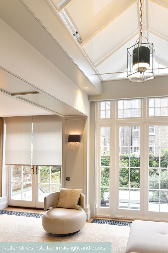 Recessed roller blinds in skylights, windows and doors  #Shades #Hidden #Skylight #Bi-folding