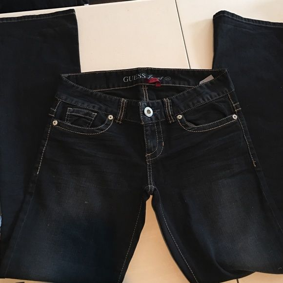 New Guess Jeans They are in a dark dark blue, almost black. Guess Jeans Boot Cut
