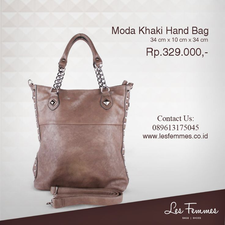 Moda Khaki Hand Bag 329,000 IDR #Fashion #Woman #bag shop now on http://www.lesfemmes.co.id/hand-bags/moda-khaki-hand-bag