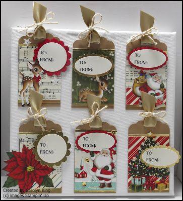 Stampin Up 'Home for Christmas' DSP  King's On Paddington: Christmas Tags