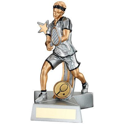 #Tennis #award  - free engraving silver finish male #tennis trophy,  View more on the LINK: http://www.zeppy.io/product/gb/2/151525073567/
