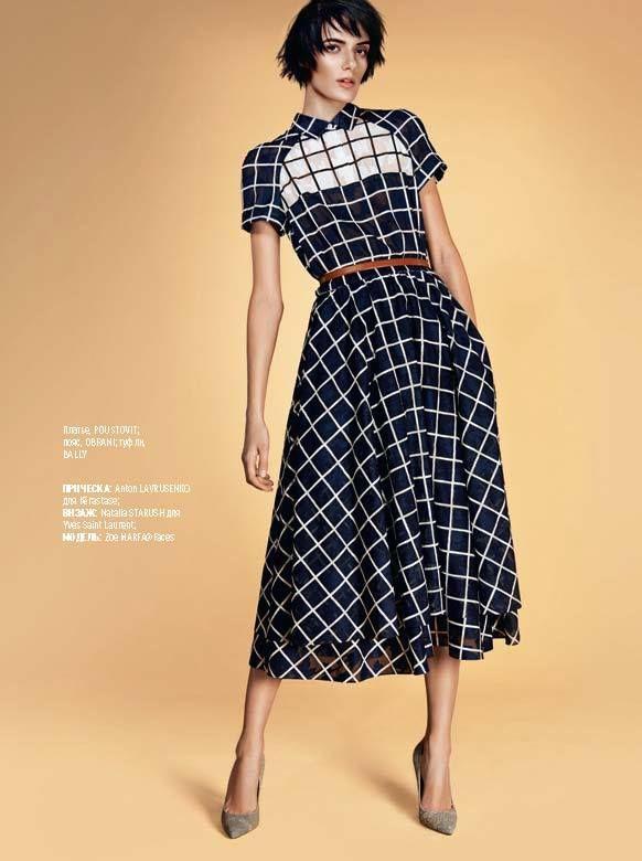 NEW ARRIVALS. Легкие и струящиеся платья-рубашки - ключевой элемент новой коллекции POUSTOVIT SS'15. Лаконичные женственные образы в голубой, белой и темно-синей гамме от POUSTOVIT уже на suitster.com  купить http://suitster.com/brends/f_6-44/  Photo credit: Marie Claire Ukraine #suitster #online #store #fashion #style #newarrivals #pousovit