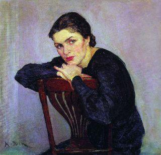 Women's Portrait - Konstantin Yuon **** Like us on Facebook https://www.facebook.com/pages/DLineare/122910717753721 ****