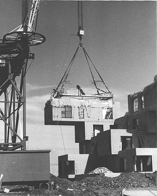Habitat at the '67 Expo under construction | 1967