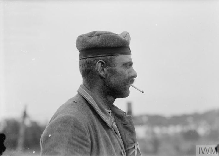 WWI, 8 June 1917; A German prisoner captured in the Battle of Messines ©IWM Q 2291