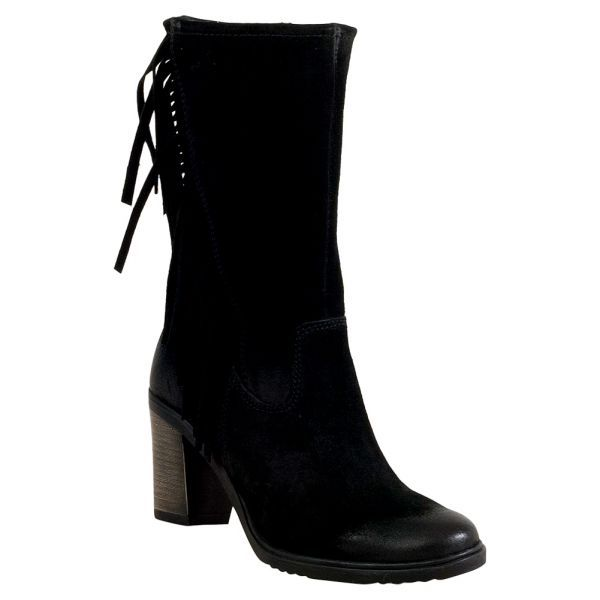 Miz Mooz Mimosa Fringe Women's High Heel Boot