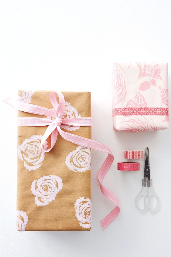 Ceate your own giftwrap using kraft