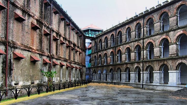 Cellular Jail Andaman Islands, India 1906 AD.Historic Cellular Jail in Port Blair was used by the British to exile political prisoners during the struggle for India's independence to the remote archipelago. Presently, the jail complex serves as a national memorial monument.