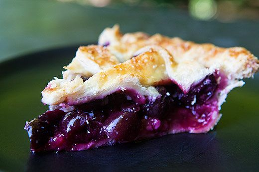 Cherry pie made with fresh, sweet cherries, baked in a buttery crust.