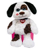 Plush Puppy with kiss mark! #valentinegift