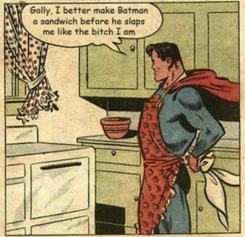 Superman batman funny old comic