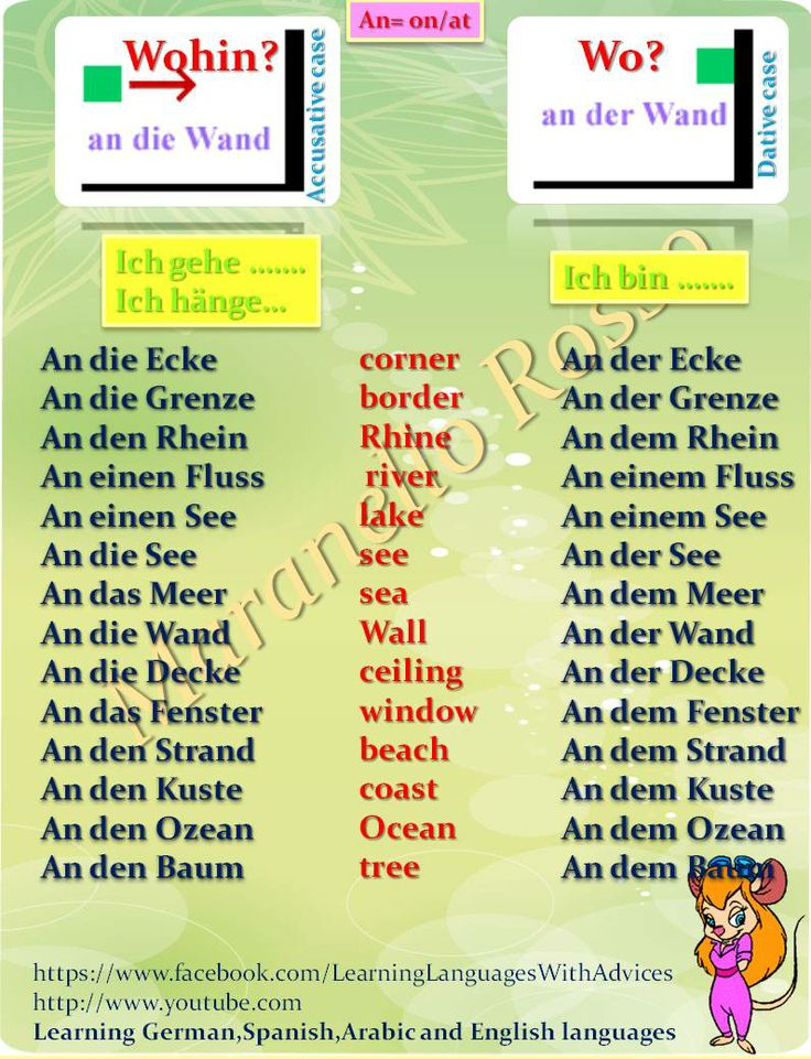 dativ akkusativ german grammar pinterest deutsch
