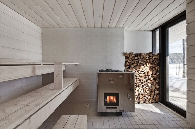 sauna?  yes, please!  via my scandinavian home