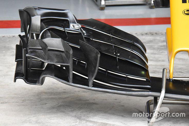Détails de l'aileron avant de la Renault Sport F1 Team RS17