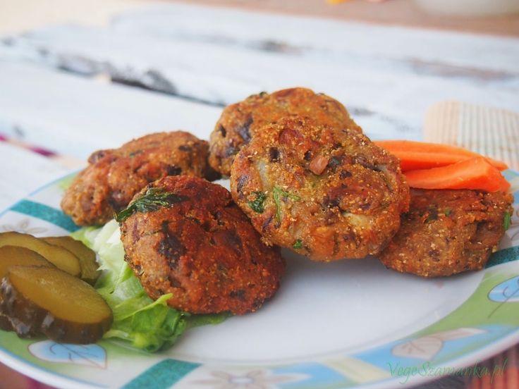 Szybkie kotlety z pieczarek  #veganburger #veganfood