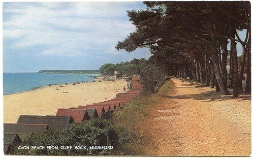Avon Beach from Cliff Walk, Mudeford, Christchurch, Dorset