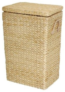Rush Grass Laundry Basket - transitional - hampers - Oriental Furniture, $87