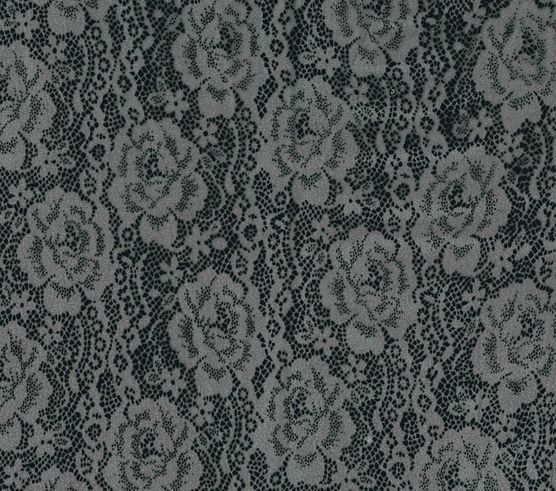 halloween fabric flocked lace organza black black - Halloween Lace Fabric