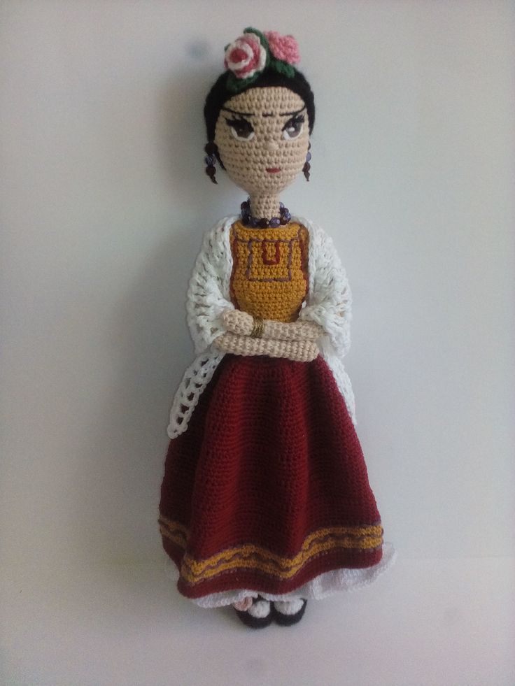 Amigurumi Doll How To : Frida kahlo amigurumi mu�eca crochet doll free