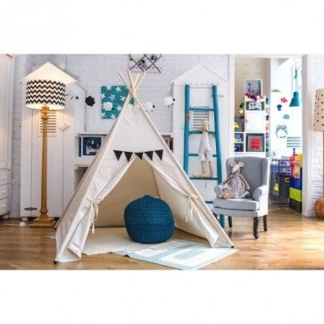 #stylish #children's #play #tent in #cream #beige . This #kids #teepee is perfect accessory for little one's bedroom or #unrsery