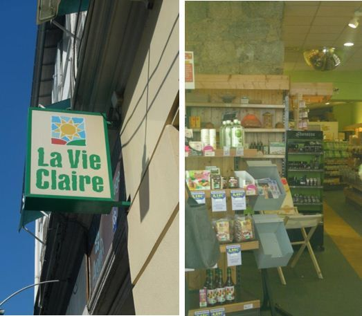 8. 'La Vie Claire' – the organic supermarket in Nice right next to our offices. This is a large shop with a refrigerated section at the back for organic fruit and veg. Great choice of seeds and bread here too. There is another superb organic supermarket just opened up close to Place Garibaldi on rue Cassini with a great selection of fruit and vegetables too. 16 Rue Lamartine, Nice