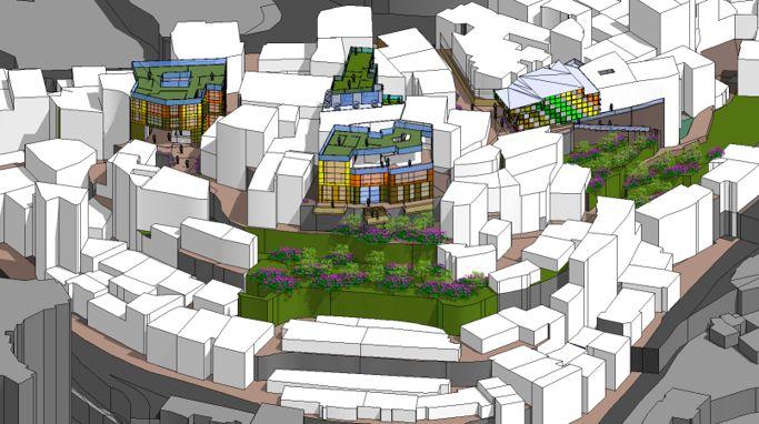 """restauración urbana y propuesta de equipamientos  para la reactivación del barrio """"Juan XXlll """" de Bogota Colombia. planteamiento de  barrio como destino cultural, turístico  y patrimonial de Bogotá."""