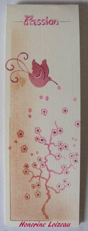 """Réalisé avec le tampon """"printemps japonais"""" et le micro tampon """"orchidées"""""""