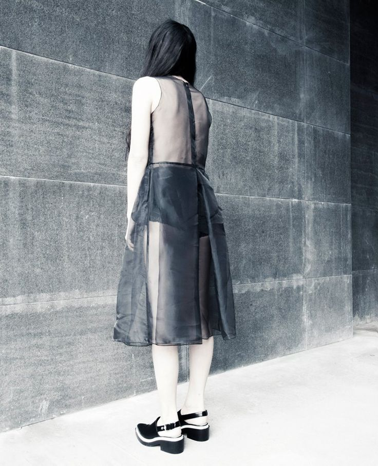 Embrace SS15,  #embracebrand #ss15 #lookbook #black #sheer #pleats #womenswear #design #dress