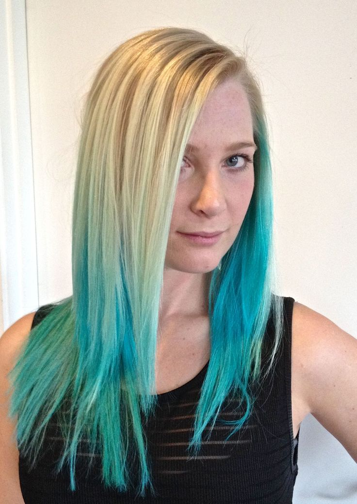 peter homewood just dyed my hair blue green ombre turquoise with natural blonde hair. Black Bedroom Furniture Sets. Home Design Ideas