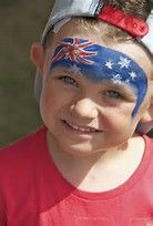 Image result for Australian Flag Face Paint