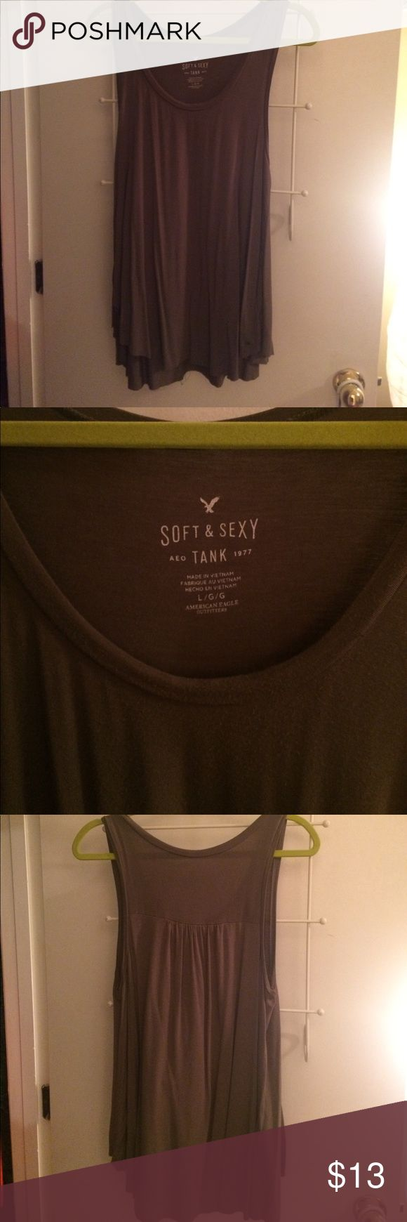 American Eagle Outfitters Soft & Sexy Tank Top American Eagle Outfitters Soft & Sexy Olive Green Tank Top. Size: Large American Eagle Outfitters Tops Tank Tops
