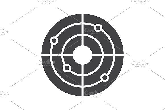 cool Shooting range icon. Vector CreativeWork247 - Fonts, Graphics, Themes,...