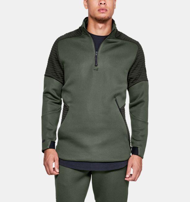 61b20e47fc Men's UA Unstoppable /MOVE ½ Zip, Artillery Green, , Artillery Green ...