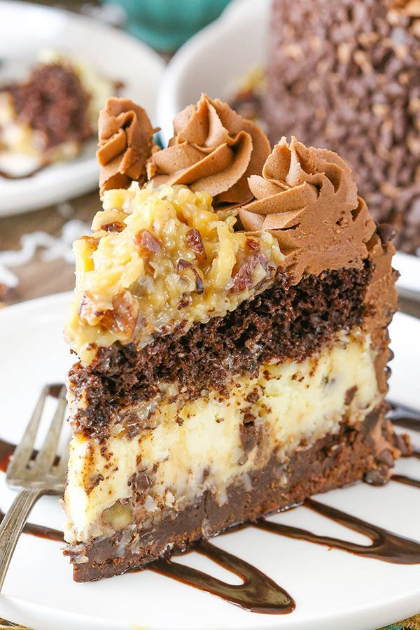 This Outrageous Chocolate Coconut Cheesecake Cake is just as fun as the name makes it sound! With layers of brownie, coconut chocolate chip cheesecake, chocolate cake and coconut pecan filling, it's an over-the-top mix of so many delicious things! Have you ever had Chris' Outrageous Cheesecake from The Cheesecake Factory? I haven't ever had it, …