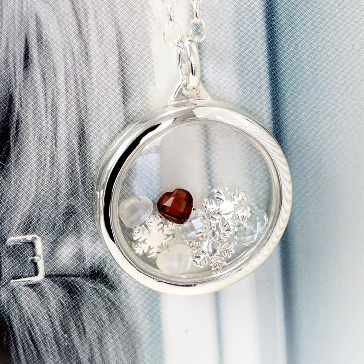 Winter is Coming. Accessorise this season with snowflakes and a warm garnet heart.