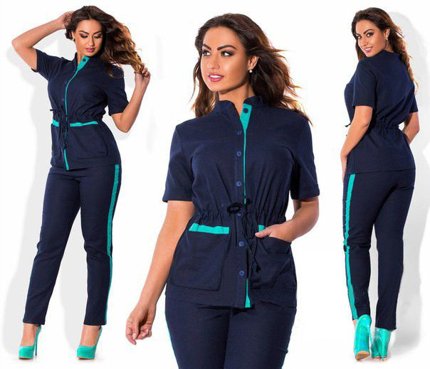 Women Casual Trouser Suit Elegant Single Breasted Suit Plus Size 12-24