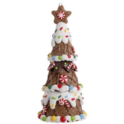 RAZ Gingerbread Tree Christmas Ornament