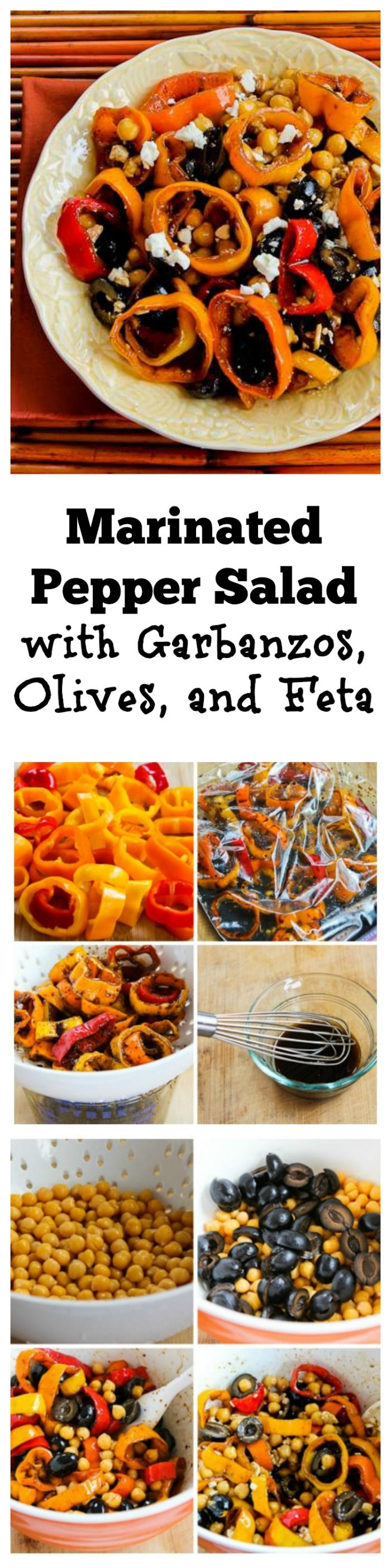 Marinated Pepper Salad with Garbanzos, Olives, and Feta | I love ...