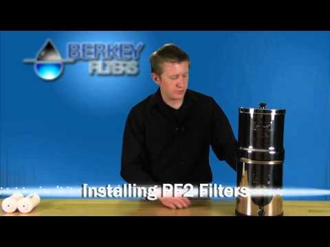 YouTube: Berkey Fluoride Water Filter (priming and installing)