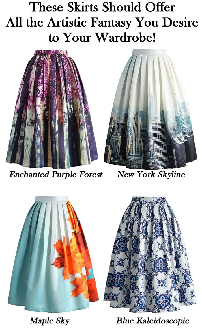 These midi skirts should offer all the artistic fantasy you desire to add into your wardrobe!